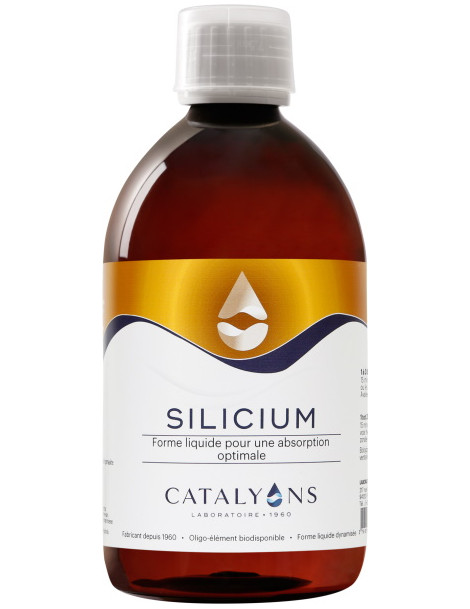 Oligo élément SILICIUM acide orthosilicique 500 ml Catalyons Silicium ionisé 500 ml Catalyons Herboristerie de paris