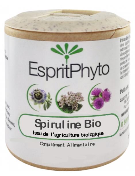 Spiruline bio 90 gélules Esprit phyto Herboristerie de paris