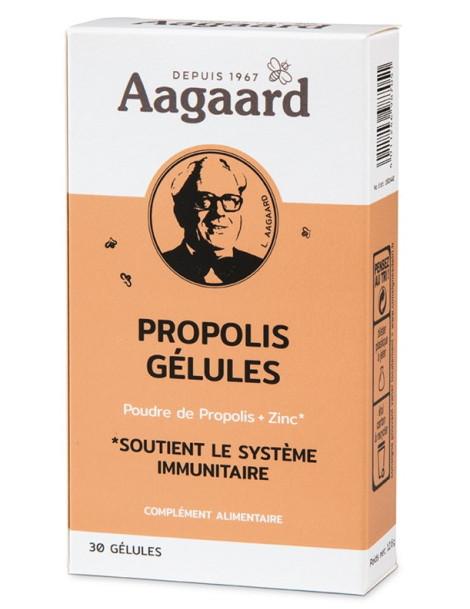 Propolin Propolis zinc 30 gélules 250 mg Aagaard Herboristerie de paris défenses