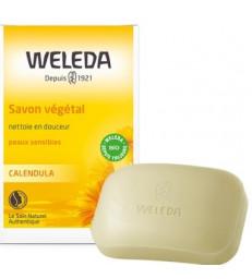 Savon végétal au calendula peau sensible 100g Weleda