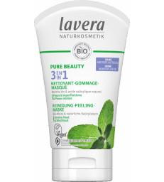 PURE BEAUTY 3en1 Nettoyant Gommage Masque 125ml Lavera