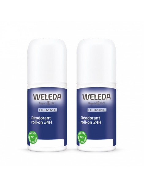 Duo Déodorant roll on 24h Homme 2x50ml Weleda