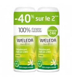 Duo Déodorant roll on 24h Citrus 2x50ml  Weleda