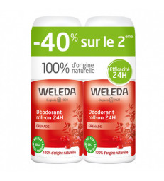 Duo Déodorant roll on 24h Grenade 2x50ml Weleda