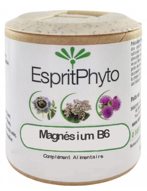 EspritPhyto - Magnésium B6 - 90 gélules stress nervosité sommeil Herboristerie de paris