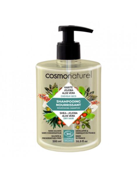 Shampooing bio Cheveux secs Karité Jojoba Aloe 500 ml Cosmo Naturel Herboristerie de paris