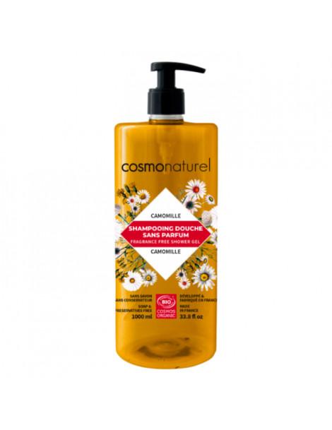 Shampoing douche sans parfum à l'extrait de Camomille 1L Cosmo Naturel