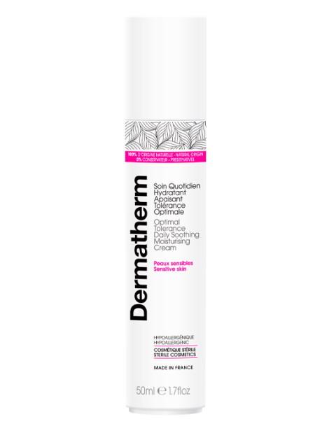 Soin quotidien hydratant apaisant tolérance optimale 50 ml Dermatherm peaux sensibles et irritées Herboristerie de paris