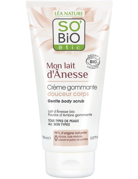 Crème de gommage douceur corps Mon Lait d'Ânesse 150ml So'Bio étic
