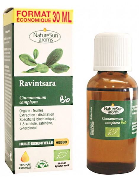 Ravintsara Huile essentielle Flacon compte gouttes 30ml Naturesun'Aroms