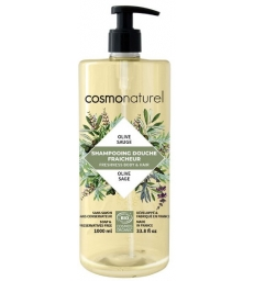 Shampoing douche Olive Sauge 1L Cosmo Naturel
