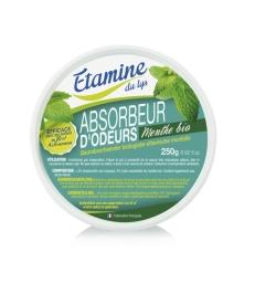 Absorbeur d'odeurs à l'huile essentielle de menthe bio 250g Etamine du Lys