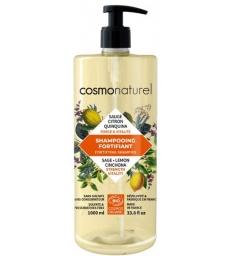 Shampoing Fortifiant Quinquina Sauge Citron 1L Cosmo Naturel