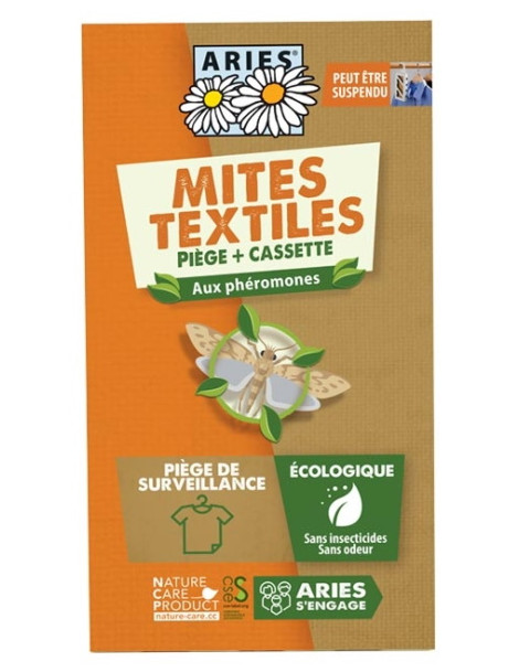 Mottlock® Mitbox Piège à Mites textiles Aries anti mites par phérormones Herboristerie de paris