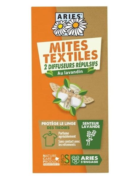 2 Diffuseurs de Répulsif anti-mites textiles Aries au lavandin et au neem Herboristerie de paris