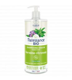 Shampooing douche Verveine Citron Sans Sulfates 1L Natessance