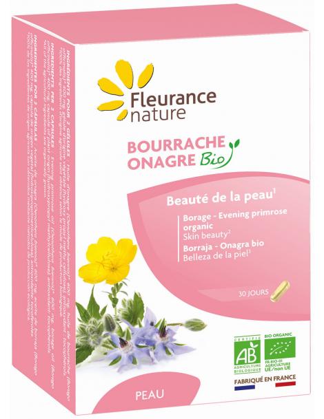 Bourrache Onagre Bio 60 gélules Fleurance Nature
