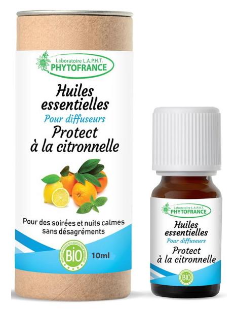 Protect à la citronnelle pour diffuseurs 10 ml Phytofrance répulsif anti-moustiques Herboristerie de paris