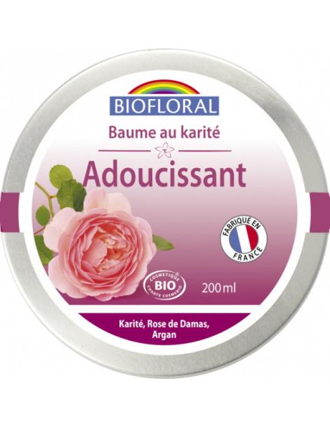 Beurre de Karité à la Rose de Damas et Cire d'Abeille 200ml Biofloral Herboristerie de Paris