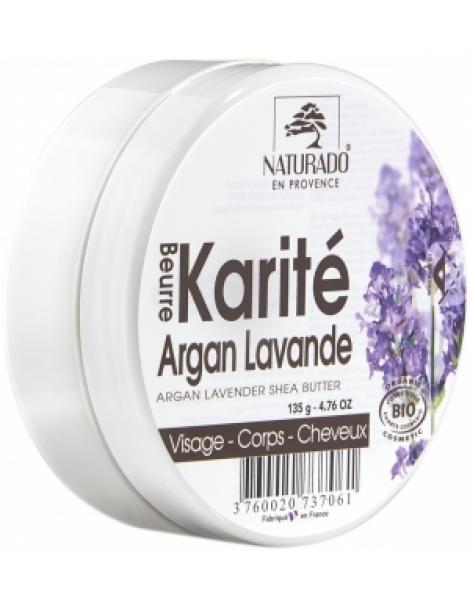 Beurre de Karité Argan Lavande 150ml Naturado Herboristerie de Paris