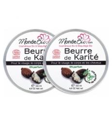 Beurre de Karité Bio et Pur Lot de 2 2x145ml Le Monde du Bio