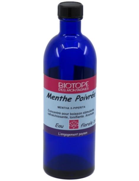 Boisson d'Eau florale de Menthe poivrée 200ml Biotope Des Montagnes Herboristerie de Paris