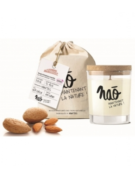 Bougie Parfumée Naturelle Amande 200gr Nao Herboristerie de Paris