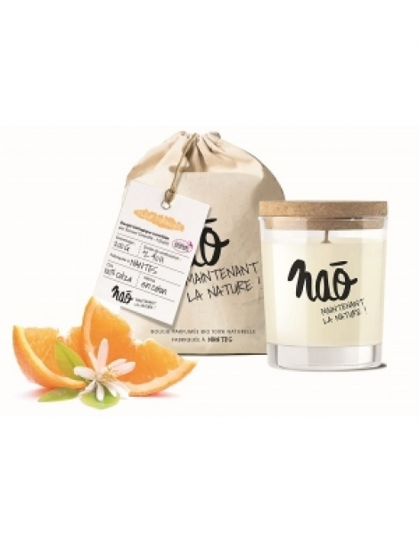 Bougie Parfumée Naturelle Fleur d'oranger 200gr Nao Herboristerie de Paris