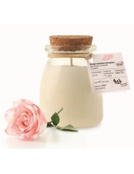 Bougie Parfumée Naturelle Rose 120gr Nao Herboristerie de Paris