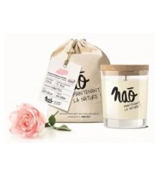 Bougie Parfumée Naturelle Rose 200gr Nao