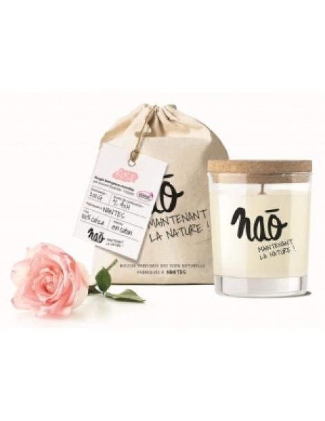 Bougie Parfumée Naturelle Rose 200gr Nao Herboristerie de Paris