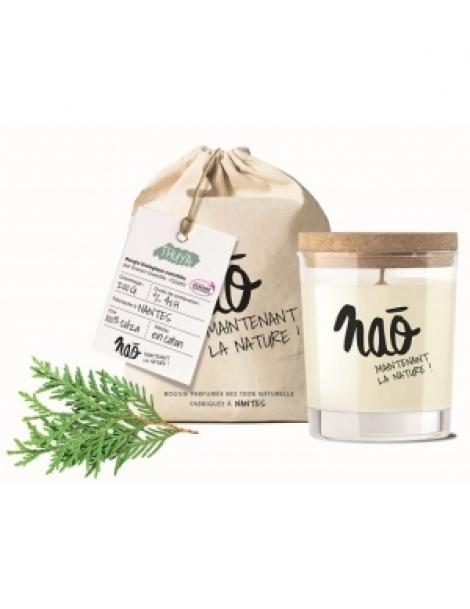 Bougie Parfumée Naturelle Thuya 200gr Nao Herboristerie de Paris