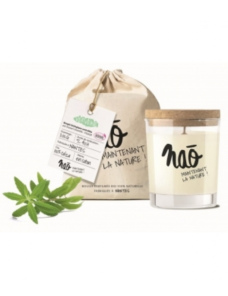 Bougie Parfumée Naturelle Verveine 200gr Nao Herboristerie de Paris