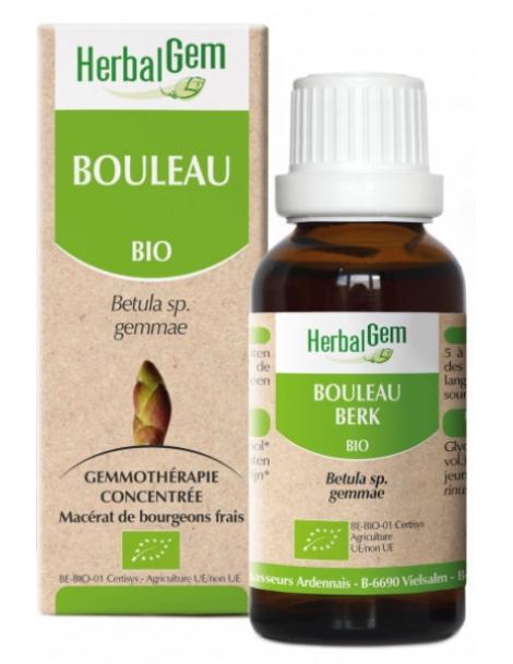 Bouleau bio Flacon compte gouttes 50ml Herbalgem Herboristerie de Paris
