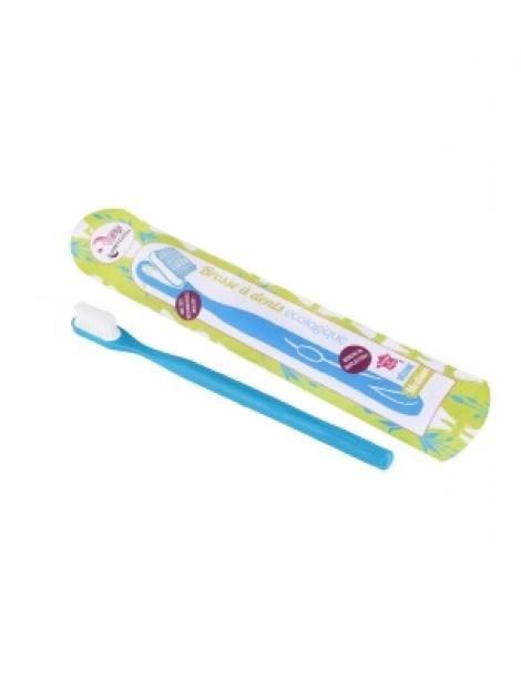 Brosse à dents écologique rechargeable Bleue Medium 17gr Lamazuna Herboristerie de Paris