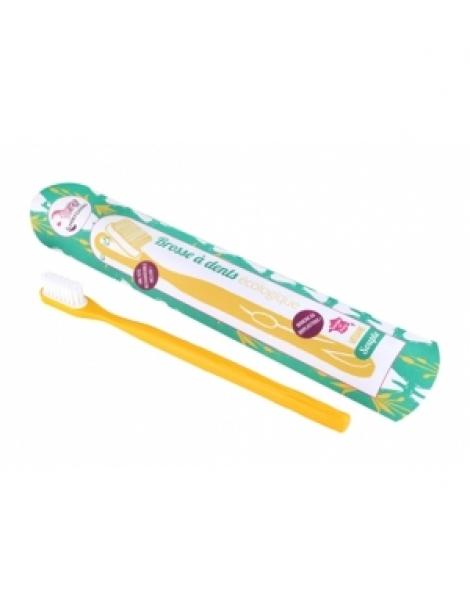 Brosse à dents écologique rechargeable Jaune Souple 17gr Lamazuna Herboristerie de Paris