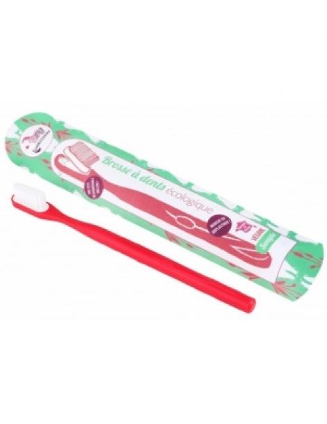 Brosse à dents écologique rechargeable Rouge Medium 17gr Lamazuna Herboristerie de Paris