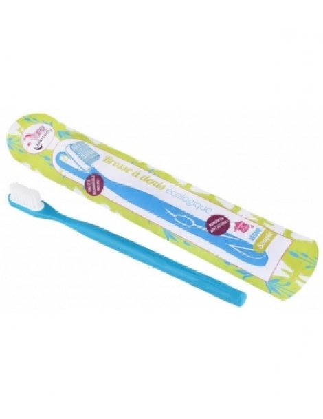 Brosse à dents écologique rechargeable Bleue Souple 17gr Lamazuna Herboristerie de Paris