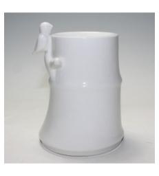 Brûle Parfum en céramique Bambou Blanc 500gr Zen Arome