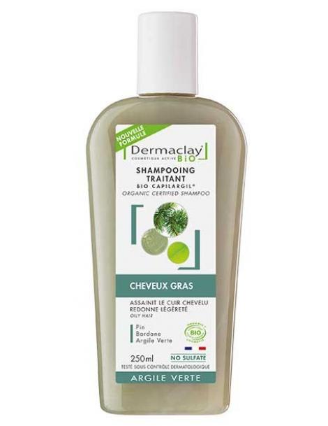 Capilargil à l'Argile verte cheveux gras et pellicules 400ml Dermaclay  Herboristerie de Paris