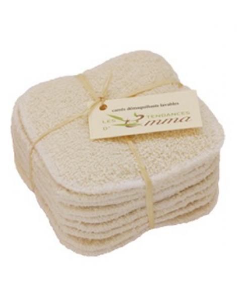 Carrés démaquillants lavables en Coton Bio Biface 10 unités Les tendances d'Emma Herboristerie de Paris