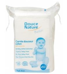 Carrés Maxi Baby coton bio et équitable 60 unités Douce Nature