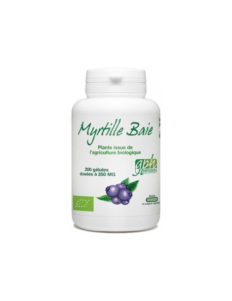 Myrtille Baie bio 250MG 200 gélules GPH Diffusion