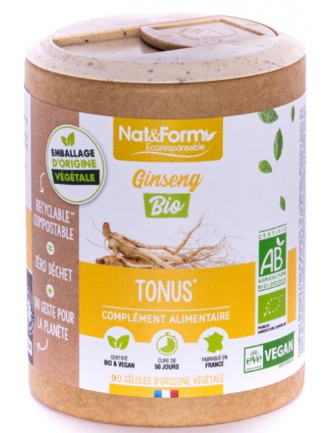 Ginseng Rouge Bio 90 gélules Nat et Form