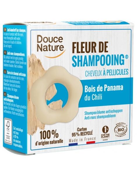 Fleur de Shampooing solide antipelliculaire Argile blanche Zinc Thym 85g Douce Nature