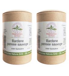 Bardane Pensée Sauvage lot de 2 boites 2 x 150 gélules Herboristerie de paris