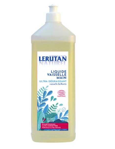 Liquide vaisselle ultra-concentré ultra-dégraissant Citron 1L Lérutan vaisselle nette Herboristerie de paris