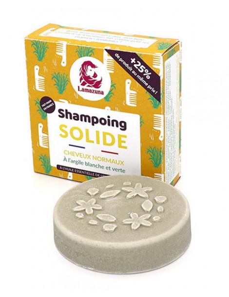 Shampoing solide naturel Cheveux normaux pin 55 gr Lamazuna vegan Herboristerie de paris
