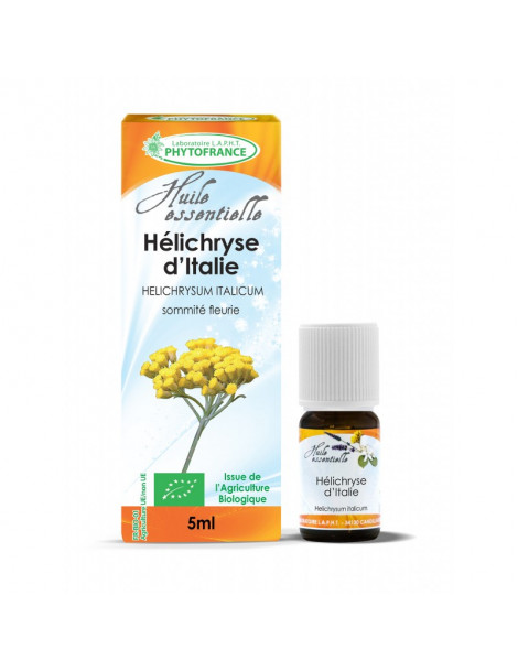 Huile essentielle d'Hélichryse d'Italie BIO 5 ml Phytofrance
