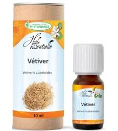 Huile essentielle de Vétiver Racine Bio 10 ml Phytofrance